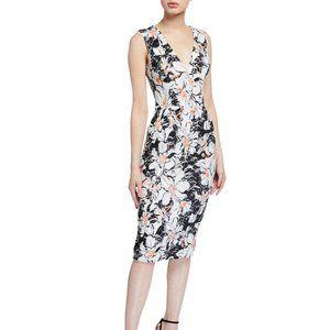 New Dress the Population Lace Sheath Midi Dress